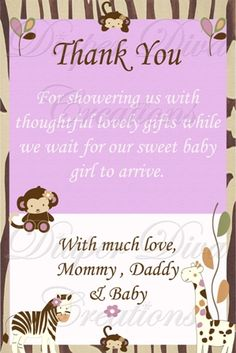 Baby Thank You Card Wording | ... , baby shower invite, thank you cards, thank you notes, thank you