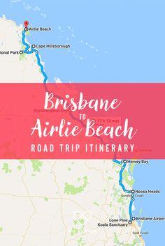 Brisbane to Airlie Beach Road Trip Itinerary: one week along East Coast Australia Perth, Brisbane, Melbourne, Coast Australia, Australia Travel, Western Australia, Australian Road Trip, Caravan Holiday, Travel Inspiration