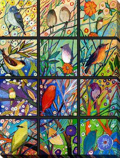 Jennifer Lommers 13 Birds Giclee Print Canvas Wall