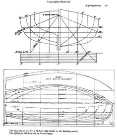 An Example Of What Boat Building Plans Can Look Like