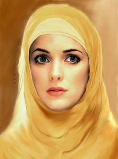 By Vidan Portraits, Portrait Art, Arabian Women, She's A Lady, Arab Girls, Yellow Art, Beautiful Hijab, Beautiful Women, Beauty Art