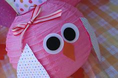 Owl Paper Lantern...great for birthday decorations
