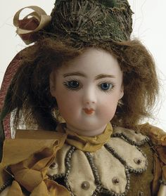 Lot: 450: Francois Gaultier Fortune Telling Doll, Lot Number: 0450, Starting Bid: $750, Auctioneer: Pook & Pook with Noel Barrett, Auction: The Mary Merritt Doll Museum Auction - Sale 1, Date: September 30th, 2006 EDT