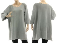 Sweater with silver lurex thread oversized fall von classydress