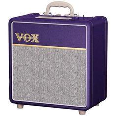 Vox AC4 Custom 4w 1x10 Combo Limited Edition Purple Vinyl Wrap w/Tygon Grille