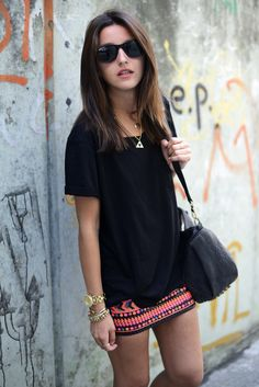 tshirt with printed skirt
