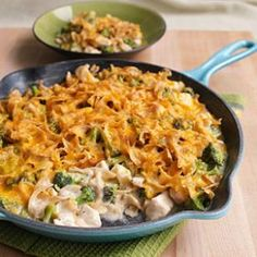 We trimmed 9 grams of fat and almost 100 calories in this makeover of cheesy chicken-and-broccoli casserole.