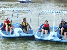 Paddle boating is great Saturday fun and exercise!