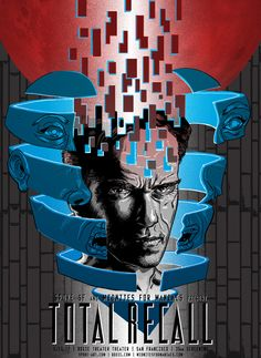 Total Recall by Tim Doyle - Home of the Alternative Movie Poster -AMP- Movie Poster Art, Film Posters, Cultura Pop, Sci Fi Movies, Action Movies, Spoke Art, Total Recall, Kunst Poster, Pop Culture Art