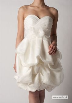 Sweetheart Strapless Organza Ruffle Short Dress
