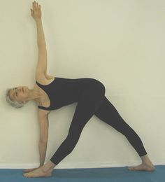 The Revolved Triangle (Parivrtta Trikonasana) beautiful website with 12 poses to help treat/prevent osteoporosis. In spite of the fact that it is a sciatica site. It's about Osteoporosis!!
