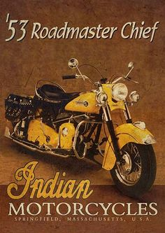 22275. - MOTORCYCLE - INDIAN 1953 - Roadmaster Chief - modelo envelhecido -  - 29x41-.