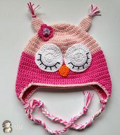 Ideas que mejoran tu vida Crochet Baby Cap, Crochet Beanie, Crochet For Kids, Knitted Hats, Knit Crochet, Crochet Owls, Baby Hat Patterns, Crochet Patterns, Animal Hats