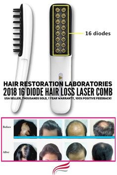 16 Diode Hair Loss Laser Comb with LLLT technology. Many studies confirm that LLLT is an effective treatment for both men and women.