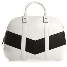 Sportmax Rubiera bag (16 695 UAH) ❤ liked on Polyvore featuring bags, handbags, purses, bolsas, accessories, leather tote purse, leather tote handbags, white handbags, tote handbags and white leather purse