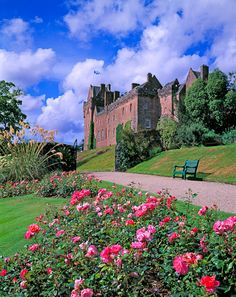 Brodick Castle, Isle of Arran, Scotland. The most famous spirit to roam this castle is said to be that of the Grey Lady, who died from the plague in She was locked in the dungeons to ensure no one else contracted the disease. Scotland Castles, Scottish Castles, Scotland Uk, Scotland Travel, Beautiful Castles, Beautiful Places, Places To Travel, Places To See, Isle Of Arran