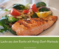 Lachs aus dem Beefer mit Honig-Senf-Marinade