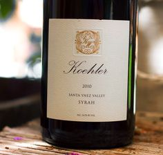2010 Koehler Santa Ynez Valley Syrah Santa Ynez Valley, Santa Barbara County, In Vino Veritas, Wine Recipes, Wines, Bottle, Food, Flask, Essen