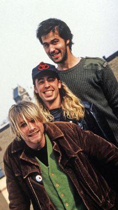 Kurt Cobain, Dave Grohl, Krist Novoselic #Nirvana