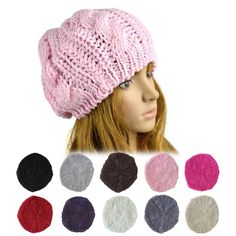 10 Colors 2016 Hot sale Knitted Women Beanies Girls Casual Cap Warm Winter Hats for Women Unisex Ladys Braided Baggy Crochet