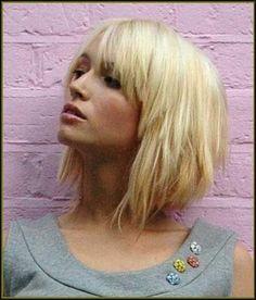 Blonde Bob Frisuren mit Pony - neue frisuren 2015 | Frisuren ... | Einfache Frisuren