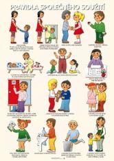 Tematický obraz: Tema Pravidla společného soužití Preschool Decor, Classroom Management, Kids And Parenting, Montessori, Adhd, Kindergarten, Homeschool, Crafts For Kids, Teaching