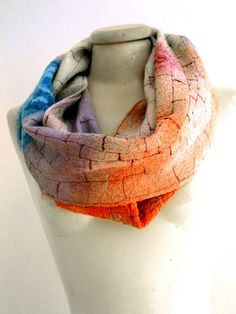 nuno felted cute circle scarf by gaiagirard
