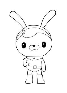 awesome tweak bunny from the octonauts coloring page
