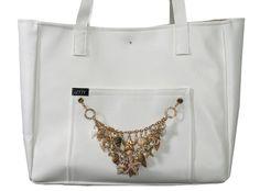 LETTY Beach-Bag, Tasche, Dawanda, Strandtasche, Muscheln, gold