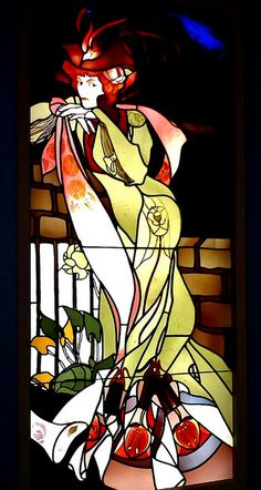 Georges de Feure Window (ca. 1901-1902) by Remedy from the norm, via Flickr