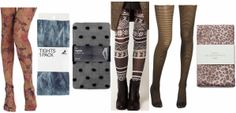 Printed tights- how cute are these??
