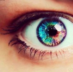 find the woman with the rainbow eyes Beautiful Eyes Color, Pretty Eyes, Cool Eyes, Multi Colored Eyes, Rare Eyes, Rainbow Eyes, Rainbow Magic, Aesthetic Eyes, Look Into My Eyes