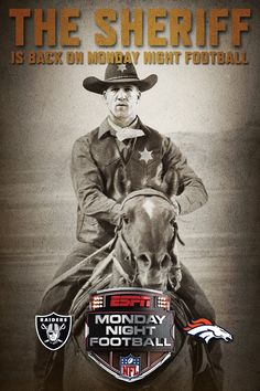 The Sheriff has come to town. Watch out! #Peyton Manning