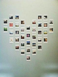 Mural de fotos- Formato de coração