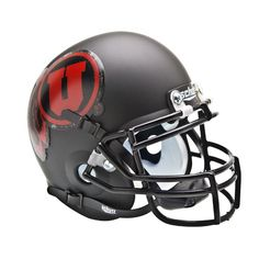 Utah Utes NCAA Authentic Mini 1-4 Size Helmet (Alternate Black w- Red 1)