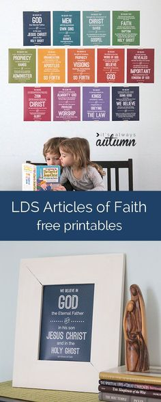 free printables for all 13 LDS Articles of Faith - hang them up at home to help with memorization!