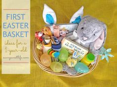 The best easter basket ideas for 1 year old boys basket ideas easter basket ideas for baby savvy sweet life first easter basket ideas for negle Images