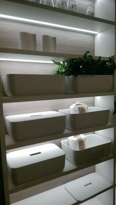 White storage containers Larder, Storage Containers, Storage Bins