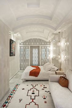The radiant Riad Goloboy is a kaleidoscopic fusion of French street art, contemporary pop art, Moroccan motifs and Danish design.