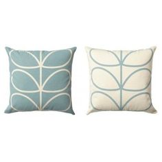 Orla Kiely Linear Stem Cushion Duck Egg Blue