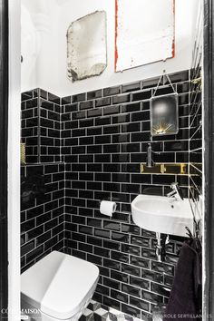 159 meilleures images du tableau toilette wc styl s small shower room home decor et bathroom. Black Bedroom Furniture Sets. Home Design Ideas