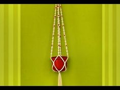 Macrame Plant Hanger / Blumenampel Makramee / Макраме Подвесное кашпо  This is one I want to make! Love how simple it is and will need to re-watch this again. So fun!