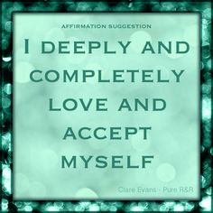 Are #affirmations a part of your life?... Here's one of my favourites that I learnt from Louise L. Hay.  No matter where you're at, open your heart to self acceptance & love, for your own fulfilment & freedom... x