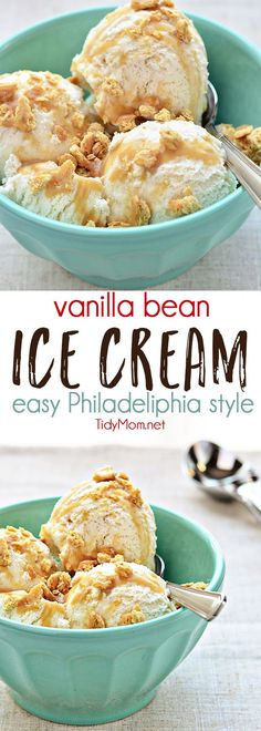 Vanilla Bean Ice Cream Recipe - Everyone should have a truly-easy and delicious no-cook vanilla ice cream recipe in their arsenal. Philadelphia style ice creams are quicker to make, don't involve any cooking, and have a heavy cream/milk mixture for the ba