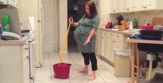 Een Man Filmde Zijn Zwangere Vrouw In De Keuken Maar Ze Hadden Nooit Verwacht Dat DIT Zou Gebeuren  Viralmundo