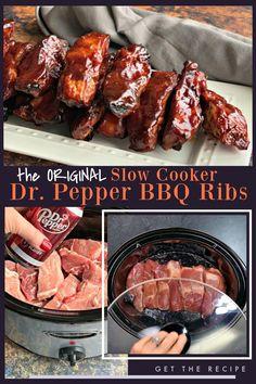 Slow Cooker Ribs Recipe, Slow Cooker Recipes, Cooking Recipes, Crock Pot Boneless Ribs Recipe, Crockpot Ribs Dr Pepper, Pork Ribs Crockpot Recipes, Ribs In The Crockpot, Country Ribs Slow Cooker, Slow Cooker Ribs Easy