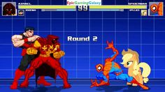 Spider-Man And Applejack VS Azrael And Wonder Man In A MUGEN Match / Battle / Fight This video showcases Gameplay of Spider-Man The Superhero And Applejack From The My Little Pony Friendship Is Magic Series VS Azrael And Wonder Man The Superhero In A MUGEN Match / Battle / Fight