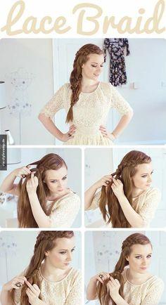 Eine ganz besondere Frisur für richtig lange Haare