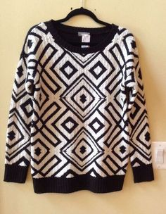 NWT NEIMAN MARCUS WOMEN'S MULTI-COLOR ACRYLIC LONG SLEEVE SWEATER SIZE M-$140 #NEIMANMarcus #BoatNeck