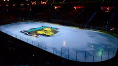 A 3D projection mapping show projected onto the ice surface at the Halifax Metro Centre in round two of the 2013/2014 QMJHL playoffs. A/V support provided by Sounds Systems+.